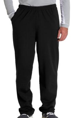 Jerzees Dri-Power Poly Pocketed Open-Bottom Sweatpants, Larg