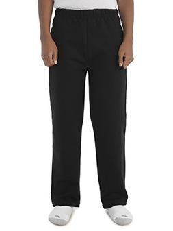Jerzees NuBlend® Youth Pocketed Open-Bottom Sweatpants - Bl