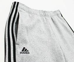 NWT ADIDAS 3-Stripe Open Men's Fleece Pocket Sweatpants Larg