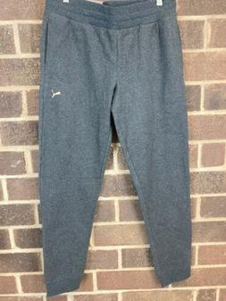 NWT Puma Athletic Gray Knitted Full Length Basics Pants Wome