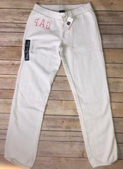 NWT Baby Gap Kids Girls Sweatpants Athletic Pants 4 White Pi