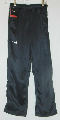 NWT NIKE BLACK JOGGER L 14 16 boys THERMA FIT TRACK SWEAT PA