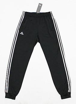 NWT ADIDAS Black-White Cuffed Men's Track Pocket Pants Large