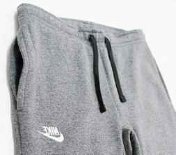 NWT NIKE Club Men's Charcoal Standard-Fit Fleece Pocket Swea