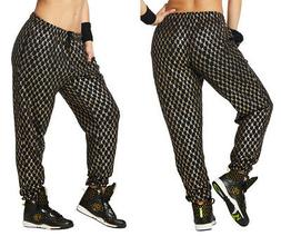 NWT Zumba Fitness Zumba Hip Hop Honey Baggy Sweatpants Black