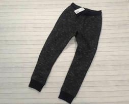 NWT H&M boys 7-8 year trendy black melange joggers sweatpant