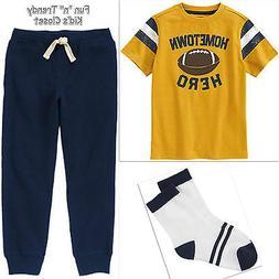 NWT Gymboree HOMETOWN HERO Boys Size 7 8 Football Tee Shirt