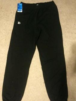 NWT Men's Authentic Champion Eco Fleece Sweatpants Black Siz