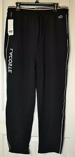 NWT MEN'S LACOSTE BLACK RAM6307 SLEEPWEAR SWEAT PANT SZ XL