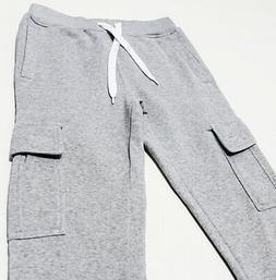 NWT SOUTHPOLE Men's Cuffed Fleece Utility Cargo Sweatpants M