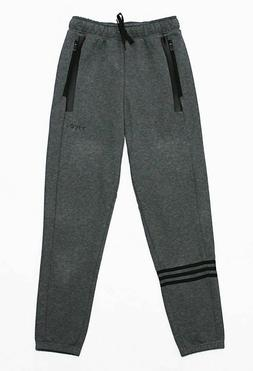 NWT ADIDAS Men's Cuffed Motion Zipper-Pocket Heather Jersey