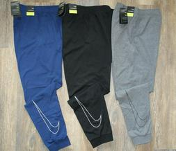 NWT NIKE Men's Dri-Fit Fleece Jersey Jogger Sweatpants Gray