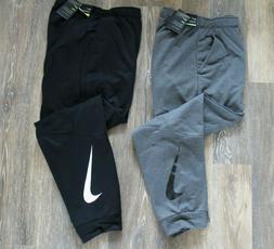 NWT NIKE Men's Dri-Fit Fleece SWOOSH Jogger Sweatpants Gray