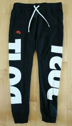 NWT NIKE Men/'s Fleece JDI Jogger Sweatpants BLACK WHITE M L XL XXL