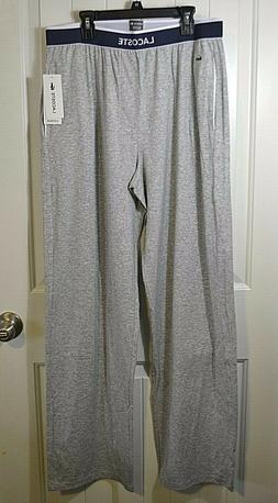 NWT MEN'S LACOSTE GRAY SLEEPWEAR SWEAT PANT SZ M XL