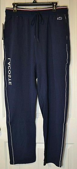 NWT MEN'S LACOSTE NAVY BLUE BLACK IRIS SLEEPWEAR SWEAT PANT