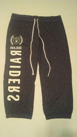 Oakland Raiders Women's Thin Sweat Pants/Sleep Wear Size M C