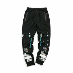 OFF-white sweatpants in black jogger diagonal arrows lounge
