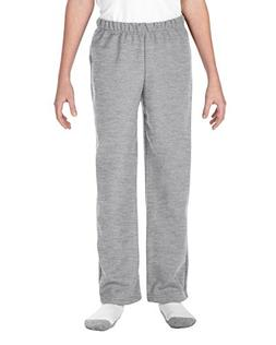 Boys  Gildan Solid Fleece Pants M, Sport Grey