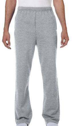 JERZEES Adult Open-Bottom Sweatpants with Pockets  Small Oxf