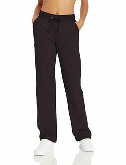 Champion Women's Open Bottom Sweatpants Black M