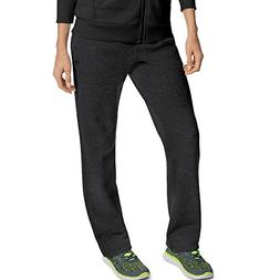 Champion Women's Open Bottom Sweatpants Black S