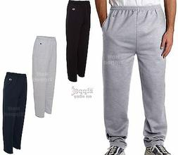 Champion Open Bottom Sweatpants with Pockets P800 S-2XL Cott