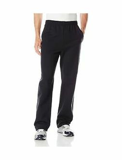 Jerzees Men's Black Adult Open Bottom Sweatpants Large
