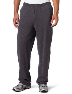 Champion Men's Open Bottom Eco Fleece Sweatpant, Granite Hea
