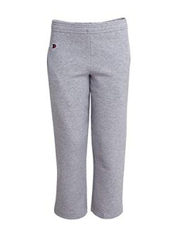 Hanes P890 Youth Double Dry Action Fleece Open Bottom Pant L