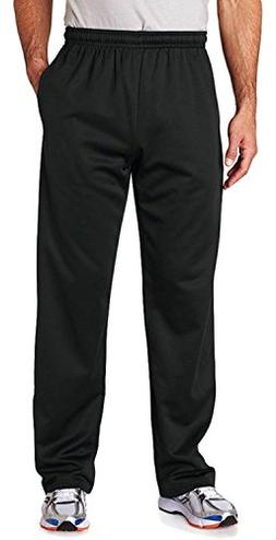 Jerzees PF974 Adult Sport Tech Fleece Open-Bottom Sweatpants