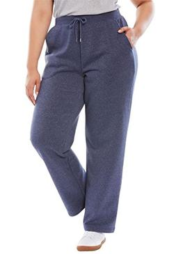 Woman Within Plus Size Petite Better Fleece Sweatpant - Heat