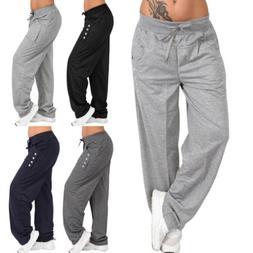 Plus Size Womens Baggy Sweatpants Casual Sports Harem Trouse
