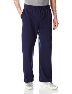 Fruit of the Loom Men's Pocketed Open-Bottom Sweatpant, Navy