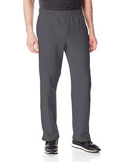 Fruit of the Loom Men's Pocketed Open-Bottom Sweatpant, Char