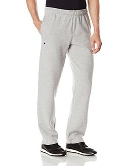 Champion Men's Powerblend Sweats Open Bottom Pants Oxford Gr