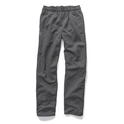 Champion Men's Powerblend Sweats Open Bottom Pants Granite H