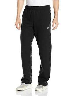 Champion Men's Powerblend Sweats Open Bottom Pants Black S