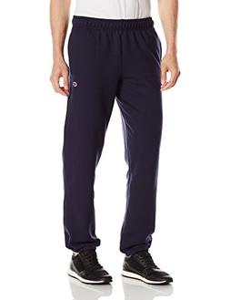 Champion Men's Powerblend Sweats Relaxed Bottom Pants Navy L