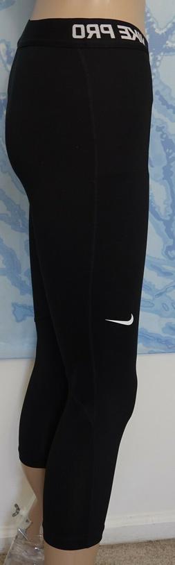 Nike Pro Cool Women's Training Capris - Black/White -Small