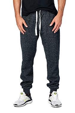 ProGo Men's Joggers Sweatpants Basic Fleece Marled Jogger Pa