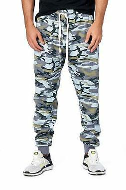 ProGo Men's Army Casual Jogger Sweatpants Basic Fleece Marle
