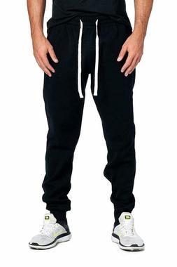 Progo Men'S Casual Jogger Sweatpants Basic Fleece Marled Jog