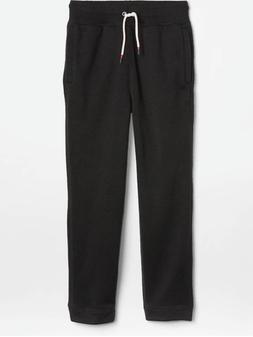 GAP Kids Pull On Black Fleece Athletic Sweatpants XS/4T  NWT