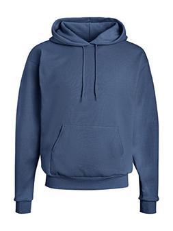 Hanes Men's Pullover EcoSmart Fleece Hooded Sweatshirt, Deni