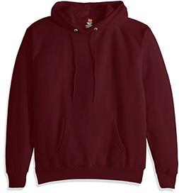 Hanes Men's Pullover EcoSmart Fleece Hooded Sweatshirt, Maro