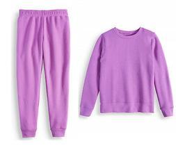 Athletic Works purple sweatshirt & sweatpants joggers set NW