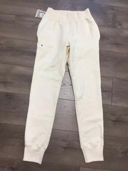 Champion Reverse Weave Sweatpants Mens Small Cream Color Jog