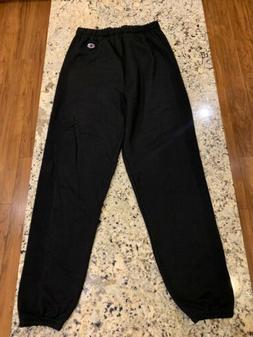reverse weave sweatpants new black mens sz