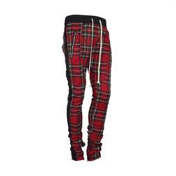 Scottish Plaid Joggers pants <font><b>Men</b></font> 2019 Ju